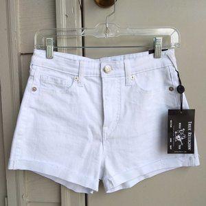 "NWT True Religion ""Jennie"" Curvy Denim Shorts"